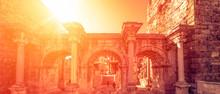 Hadrians Gate In Old City Of Antalya, Turkey