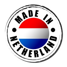 Made In Netherland Coloring The Flag. Symbol. Seal.