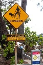Danger Sign At Sea, Risk Of Je...