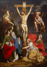 Valenciennes, France. 2019/9/12. The Painting Of The Crucifixion Of Jesus Christ By Abraham Janssens (1576-1632). From The Dominican Convent In Valenciennes, France.