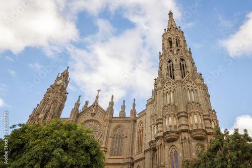 Cathedral of San Juan Bautista in Arucas, Gran Canaria, Spain. Canvas Print