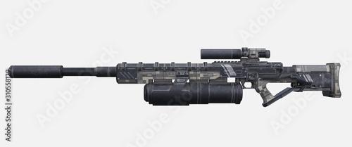 Fotografía Science fiction military laser gun.