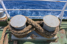 Mooring Ropes Coiled On A Gree...