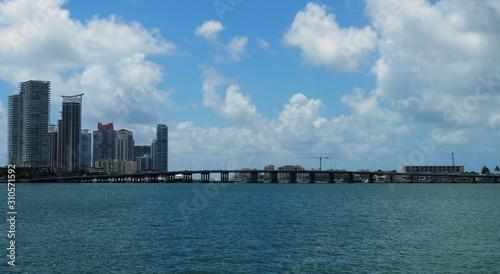 Panoramic view of south beach skyline
