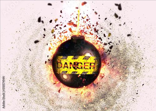 Fotografia, Obraz 爆弾の爆発