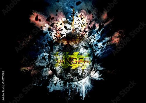Obraz na plátne 爆弾の爆発