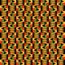 Kwanzaa Seamless Pattern - Colorful Repeating Pattern Design For Kwanzaa