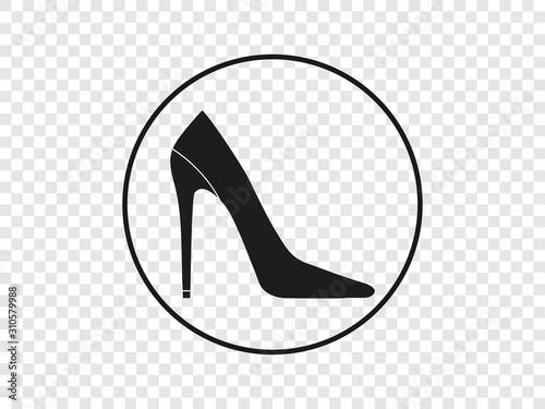 High heel shoe icon. Vector illustration, flat design. Obraz na płótnie