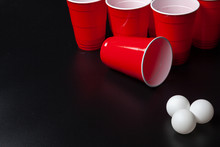 Still Life Shot Of A Beer Pong...