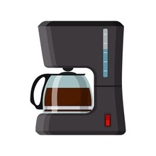 Coffee Machine Icon. Office Coffee Machine Isolated On White Background. Vector Illustration In Flat Style.