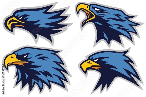 Set of Eagle Sports Logo Mascot Vector Design Collection Tablou Canvas