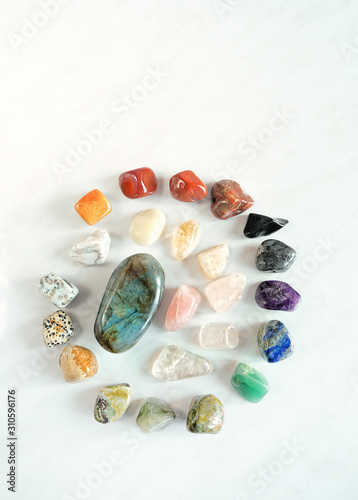 Stampa su Tela Chakras Stones to Heal