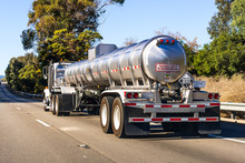 Tanker Truck Driving On The Fr...