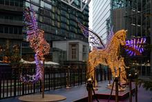 Shiny Colorful Christmas Illum...