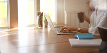 Young Businesswoman Working Wi...