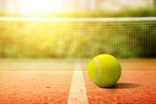 Closeup View Of A Tennis Ball ...