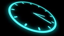 Fast Moving Clock Neon Bright ...