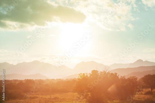 Obraz Mountains silhouette - fototapety do salonu