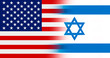 Flag of United States of America with Flag of Israel