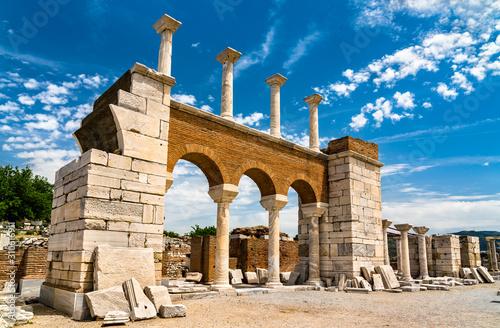 Ruins of the St. John Basilica at Ephesus in Turkey Fototapeta