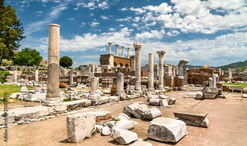 Stampa su Tela Ruins of the St. John Basilica at Ephesus in Turkey