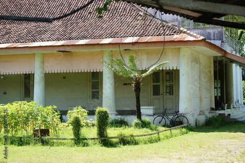 The Dutch colonial building located in the area of the Demas Sugar Cane Factory in Besuki District, Situbondo Regency, East Java, Indonesia Wallpaper Mural