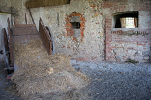 Abandoned Farmhouse With Hay B...