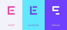 Set Of Letter E Minimal Logo I...