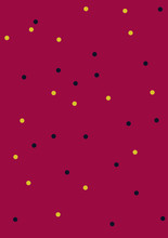 Pop Art Seamless Pattern. Black And Gold Dots On Deep Red Background. Halftone Color Dots. Pop Art Seamless Background. Comic Book Style. Vector Illustration EPS10