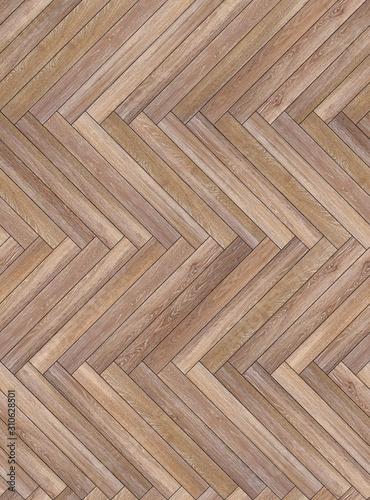 Fototapeta Seamless wood parquet texture herringbone light brown obraz na płótnie