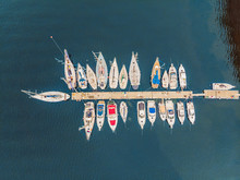 Pier Speedboat. A Marina Lot. ...