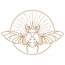 Scarab Logo. Scarabeus Insect ...