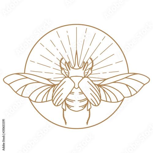 Billede på lærred Scarab Logo