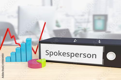 Vászonkép Spokesperson – Finance/Economy