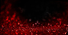 Abstract Blur Red Glitter On B...