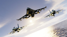 Three F-16 Fighting Falcon Jet...
