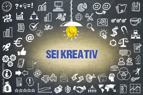 Sei kreativ