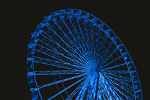 Blue Illuminated Ferris Wheel ...