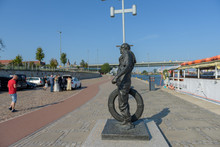 The Lone Sailor Statue In Szczecin, Poland.