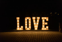 Illuminated Love Sign In Large...