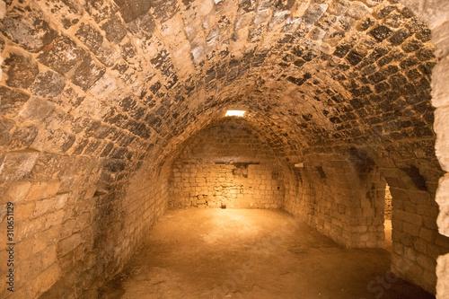 The interior of the Citadel of Raymond de Saint-Gilles, a crusader fortress. Tripoli, Lebanon - June, 2019