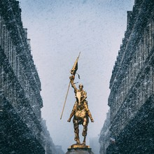 Vertical Shot Of The Historic Joan Of Arc Statue In Paris, France