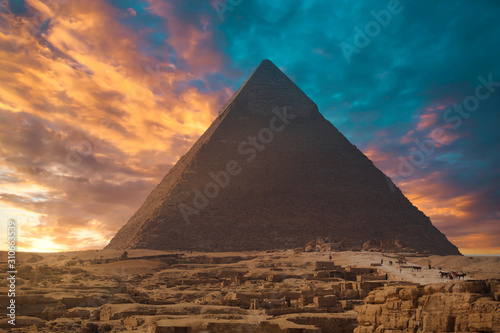 Fotomural  pyramids of Giza, in Egypt.