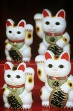 Chinese Talisman Cat Figurines