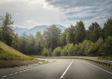 Highland Road Through Mountain...