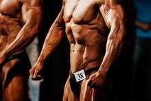 Athlete Man Bodybuilder Posing...