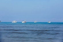 High Speed Sea Yachts Float On...
