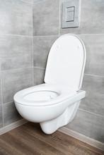White Toilet Bowl With Open Se...