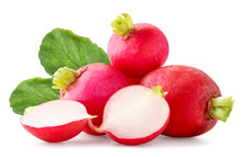 Fresh Radish With Leaves And T...