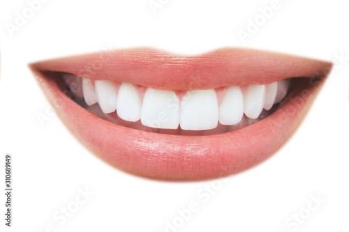 Obraz Beautiful Smile With Healthy Teeth - fototapety do salonu